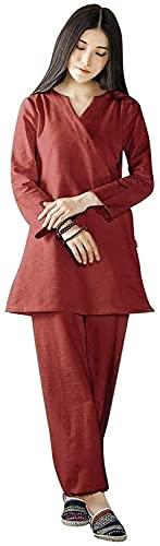 YYAI-HHJU Abbigliamento Tai Chi Donna Uomo Donna Zen Meditazione Abbigliamento Set Abito Buddista Abbigliamento Cinese Kung Fu Cotone Tai Chi Abito Arti Marziali Abito Judo Blu Scuro Grande