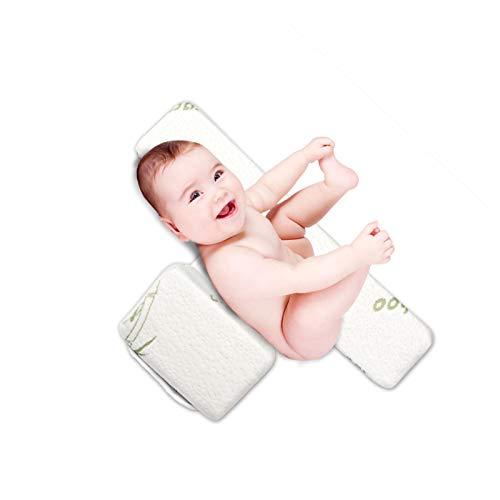 Seitenkissen Baby, Babys Side Schlafkissen Adjustable 45° ,Vermeidbar Flachkopf-syndrom Baby Abnehmbar Und Waschbar Memory Baby Bambusfaser Seitenschläferkissen (3-12 Months)
