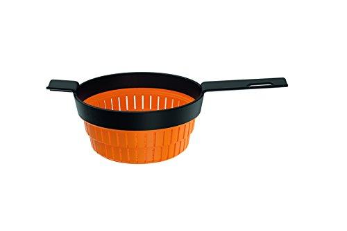 Fiskars Küchensieb, Zusammenfaltbar, Maße: 36,0 x 20,4 cm, Volumen: 1,9 l, Kunststoff/Silikon, Functional Form, 1014345