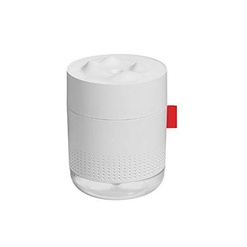 HANPIN-PETS USB para el Coche purificador de Aire de Gran Capacidad 500 Ml Inicio Atmósfera Discoteca Escritorio humidificador, Color Blanco Mini humidificador