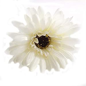 "Artificial and Dried Flower 1pcs Artificial Flower 21"" Long Stem Silk Daisy Faux Mums Flower Chrysanth Gerbera for Wedding Bouquet Bridesmaid Home Decor"