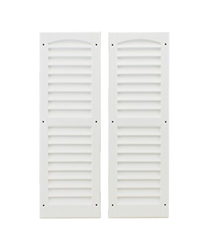 Louvered Shed Shutter or Playhouse Shutter White 9' X 27' Sold by The Pair