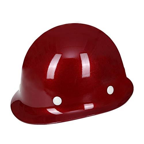 CLYANQM glazen stalen helm type harde hoed anti-piercing hittebestendig 6 punt Link voering voor hoge gebouw levering circuit metallurgie hoge temperatuur werk hoofd bescherming Wijn Rood