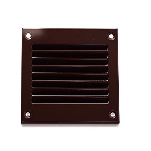 Vent Systems - Griglia di ritorno dell aria in metallo, 10 x 10 cm, con parassiti integrato, copertura per bocchette di ventilazione HVAC, 100 x 100 mm