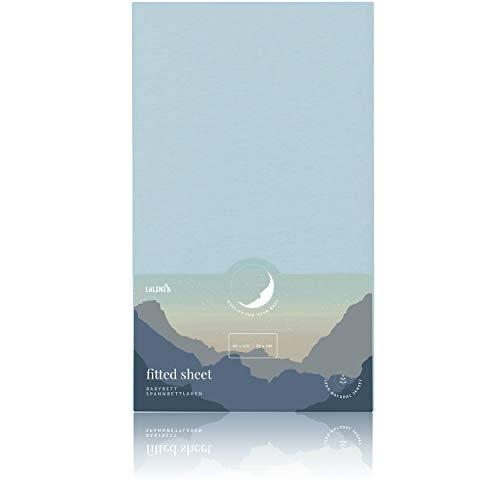 Laleni Spannbettlaken für Babybett Kinderbett - 60x120 bis 70x140 cm, atmungsaktiv, 100% Baumwolle, Blau