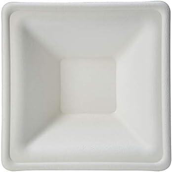 500-Pack AmazonBasics Compostable 12 oz. Square Rimmed Bowl