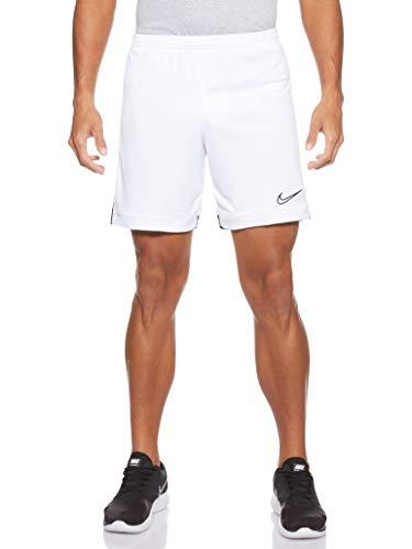 Nike M NK Dry ACDMY Short K Homme, White/Black/Black, FR : S (Taille Fabricant : S)