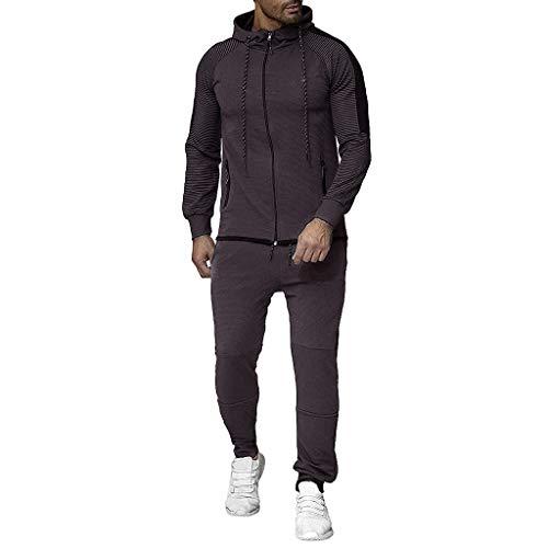 serliy😛Herren Trainingsanzug Jogginganzug Sportanzug Fitness Jogginganzug Casual Herbst Gradient Zipper Print Sweatshirt Top Hosen Sets Sport Anzug Trainingsanzug