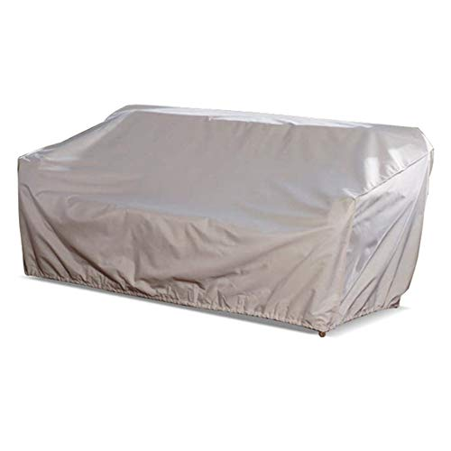 LDIW Schutzhülle für Gartenbank 2-Sitzer Abdeckung für Gartensofa Anti-UV Wasserdichtes Atmungsaktives Oxford-Gewebe Gartenbank Abdeckung 218.4x99x90.1 cm