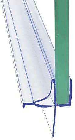 Frameless Shower Door Bottom Seal Shower Sweep with Drip Rail for...