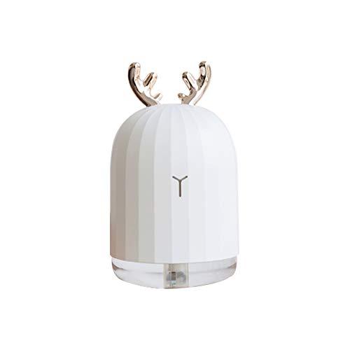 Blusea Diffusor Aromatherapie,Deer Mini Luftbefeuchter Ätherisches Öl Diffusor Aromatherapie Haushalts Ultraschall-Luftbefeuchter USB Diffusoren Rosa Kaninchen