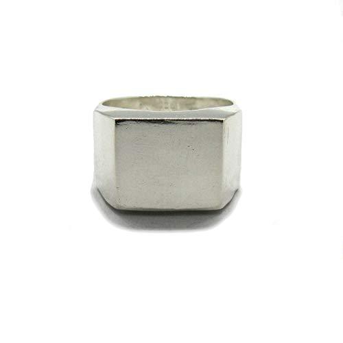 Anello in argento da uomo con sigillo massiccio 925 R001892