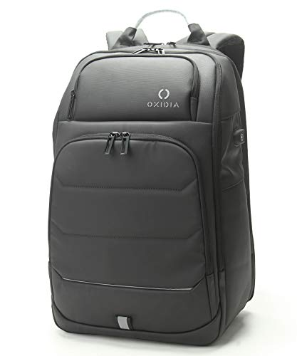OXIDIA Executive Backpack, Weekender Flight Approved, Waterproof, Laptop Backpack for Men Women 15.6 Inch with USB Charging Port, Expandable Travel Backpack, (25L, 33.5L) TSA Friendly (Black)