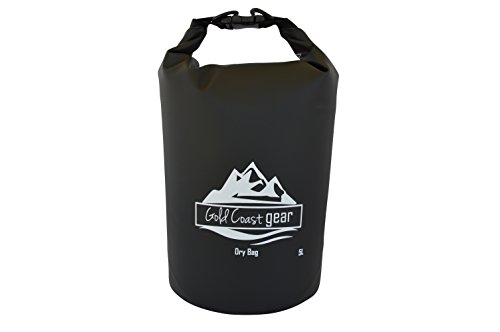 Gold Coast gear Dry Bag Roll Top Waterproof Sack - Multiple Sizes & Colors Includes Shoulder Strap - Best for Camping, Hiking, Kayaking, Fishing, Canoeing, Paddle Boarding, Outdoor Sports and Rafting