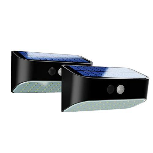 Solarleuchten für Außen mit Bewegungsmelder, LED Wasserdicht Solarlampen für Garten, Wand Solarlichter für Flur, Treppen, Hof, Einfahrt, Gehwegen