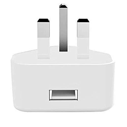 DGTRD USB Charger Plug-DC 5V2A, Universal 3 Pin UK Wall Charger Head AC Power Adaptor Plug for Tablets Iphone 11/X/8 Plus Ipad Huawei P 20 Lite Samsung Galaxy S8 A50 Motorola Nokia LG Etc-White