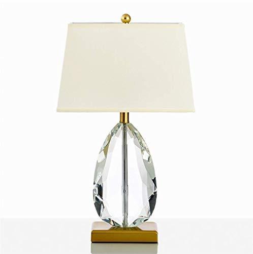 STERB Lámpara de Mesa - Lámpara de Mesa de Cristal for Dormitorio o la Sala de Estar con la Lectura de cabecera Caliente en Forma de lágrima, Restaurante