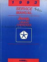 1993 Jeep Grand Cherokee Service Shop Repair Manual Oem