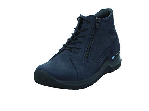 Wolky Comfort Schnürschuhe Why - 11800 Nubukleder blau - 38