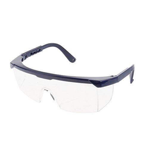 SDENSHI Einstellbare PSA Schutzbrille, Klare Linse, Blauer Rahmen