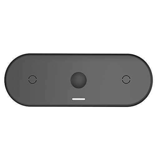Mogzank Cargador InaláMbrico 3 en 1 para TeléFono MóVil Reloj Caja de Auriculares para IPhone12 Cargador InaláMbrico MagnéTico