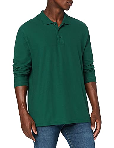 Fruit of the Loom Prime Polo à manches longues, Vert (Forest Green), Medium