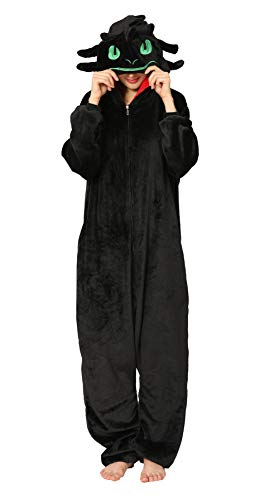 Disfraz de Pijama de Animal Adulto, Disfraz de Dinosaurio de una Pieza de Felpa Traje de Cosplay de…