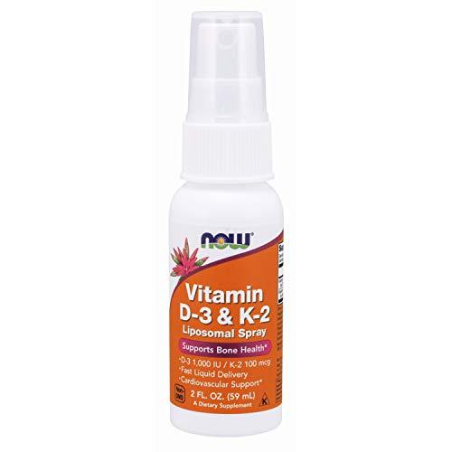 Now Foods, Vitamin D3 und K2, Liposomal-Spray, 60 ml, glutenfrei