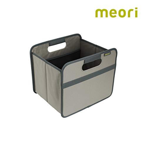 meori Faltbox Classic Small Stein Grau 32x26,5x27,5cm abwischbar stabil Polyester Premium Qualität neutral Freizeit Autobox Sport Spiel Shopper Klappkorb Verräumen