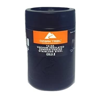 Ozark Trail 12 Ounce Double Wall Vacuum Insulated Can Cooler Cup (1, Black)