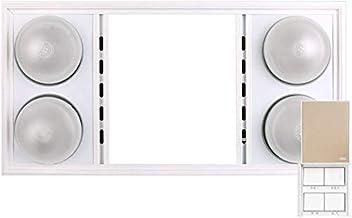 XHHWZB Calentador de Bulbo, 4-Bombilla de Infrarrojos Calentador de Techo Tipo IC Ahorro de energía, Blanca, 1100 vatios (Color : Style B)