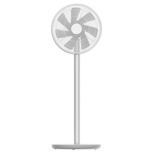 ZL Ventielventilator, stil, 13 inch met app-afstandsbediening, draagbare ventilator, 7 palen, aluminiumlegering, lithium accu 2800 mAh, wit