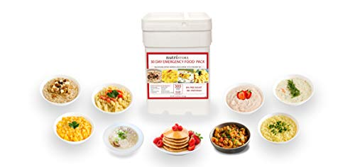 Nutristore 30-Day Emergency Food Supply | 300 Servings | Quality Ready-to-Eat Meals | Preparedness Survival Kit | 25-Year Shelf Life | USA-Made…