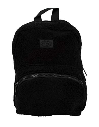 Dickies Unisex Faux Sherpa Mini Backpack (Black, One Size)