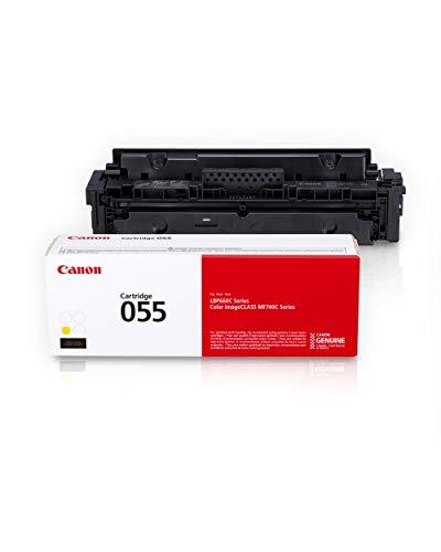 Canon Genuine Toner, Cartridge 055 Yellow (3013C001) 1 Pack, for Canon Color imageCLASS MF741Cdw, MF743Cdw, MF745Cdw, MF746Cdw,LBP664Cdw Laser Printers, Standard