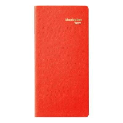2021 Manhattan Pocket Diary (Cartier Red Simulated Leather)