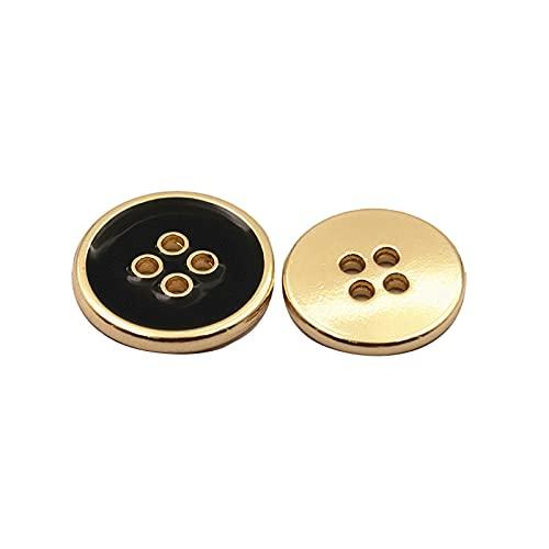 Botón de metal para costura, manualidades, botones de juego, botones de 4 agujeros, 30 unidades