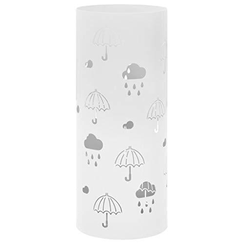 vidaXL Paragúero Diseño Paraguas Acero Inoxidable Accesorios Decoración Hogar