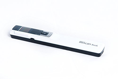 IRIScan Book 3 Wand Color Hand Held Portable Scanner, Battery AAA, 1 Click scan to PDF, Scan to PDF/Word/EXCEL/JPG, Full 138 OCR Languages, Scan to SD, No PC Needed, White, Model: 458999