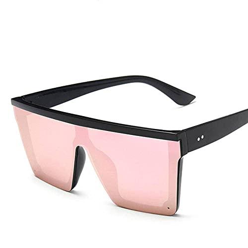 N\C Gafas de sol todo en uno con marco grande de moda retro hombres y mujeres anti-UV al aire libre playa viajes gafas