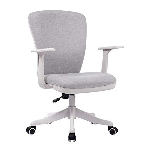 ZFFSC bureaustoel, Ergonomisch draaibaar gaas stoel verstelbare zithoogte Lumbar ondersteuning bureaustoel (kleur : lichtgrijs)