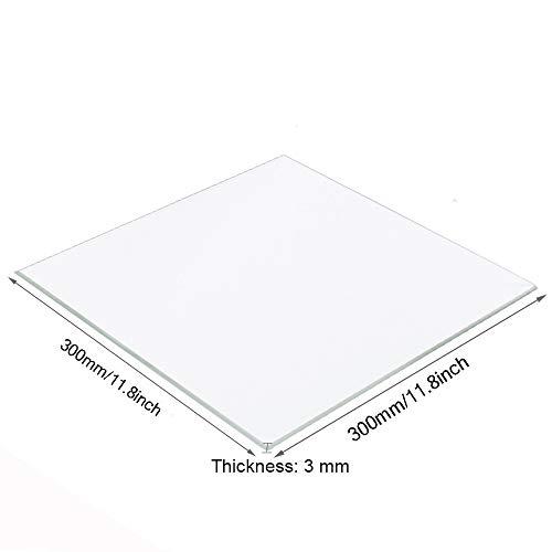 Placa cristal borosilicato impresoras 3D, 300 mm x
