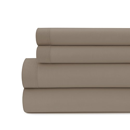 Briarwood Home Jersey Knit Bed Sheet Set – 100% Modal – Heavy Weight, T-Shirt Soft, Cozy 4 Piece Bedding – Deep Pocket, Fade & Wrinkle Free, All Season Breathable Sheets (Queen, Taupe)