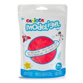 Carioca Set Modelight | Pasta Modellabile Super Leggera per Bambini, 6 Buste Richiudibili, Pasta da Modellare Super Flessibile per Bambini dai 36 Mesi, Colori Assortiti, 100 g x 6 Pezzi