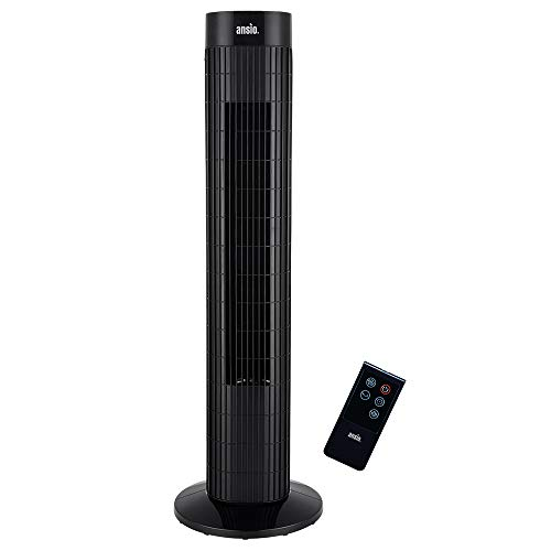 ANSIO Tower Fan 30-inch with Remote For Home and Office, 7.5 Hour Timer, 3...