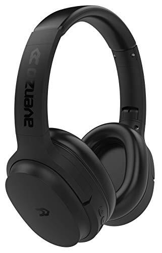 Avenzo (AV-HP2003B) Auricular Bluetooth-Cable ANC Cancelación Ruido Negro
