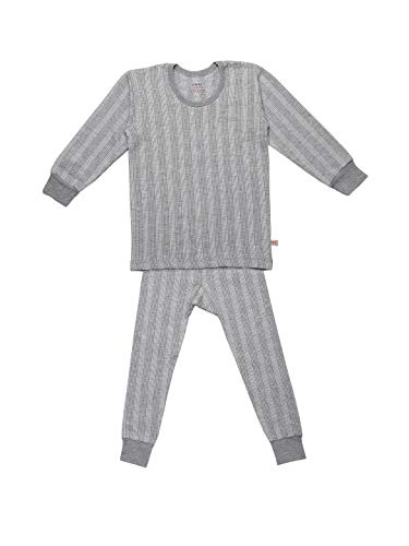 VIMAL JONNEY Regular Fit Thermal Top and Lower Set for Boys and Girls-thsetRNFS_MLG01-14 Light Grey