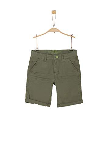 s.Oliver Junior Jungen Hose Kurz Shorts, Khaki, 158 / REG