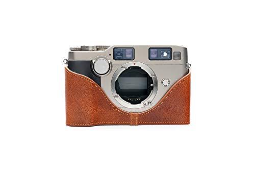 Zakao Kameratasche für Contax G2, handgefertigt, echtes Leder, Halb-Kameratasche für Contax G2, mit Handschlaufe
