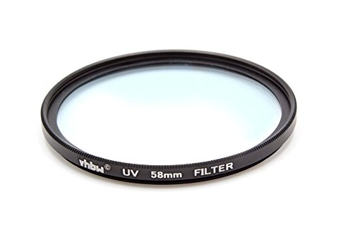 Filtro Protector UV Universal vhbw 58mm para cámara Voigtländer Nokton 42,5 mm F0,95, Voigtländer Nokton 58mm F1,4 SLII.